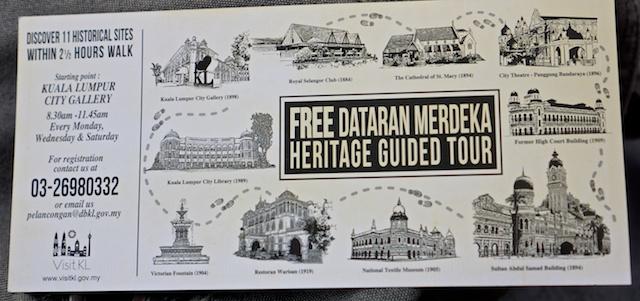 Dataran Merdeka Heritage walk leaflet