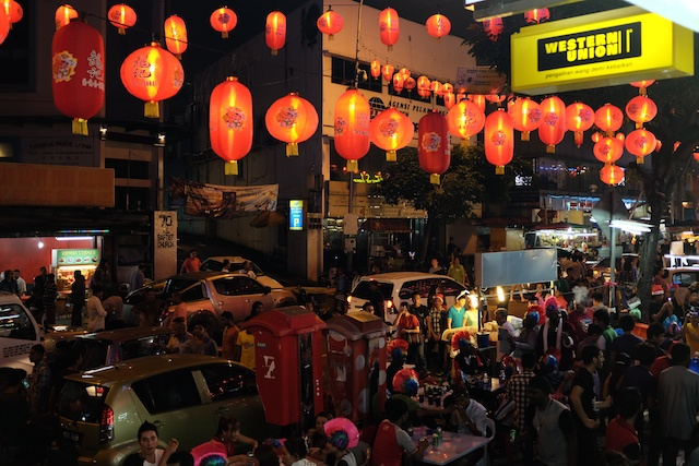 Lanterns at the top of Jalan Alor