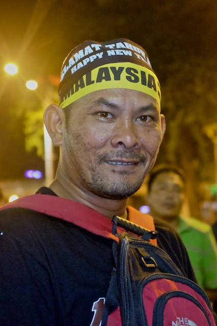 man at Turun rally in KL NYE 2013