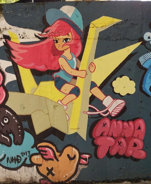 Anna at Kad Suan Kaew in Chiang Mai_street art