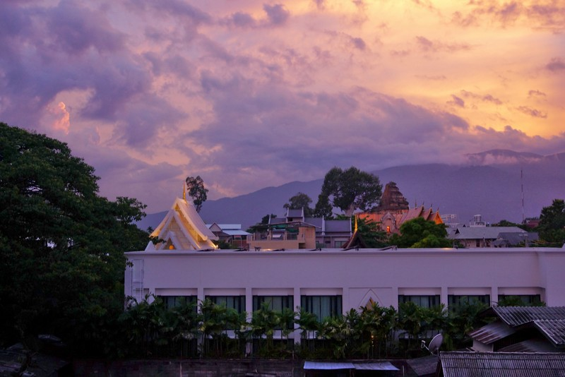 VThe View from our hotel balcony in Chiang Mai, Thailand