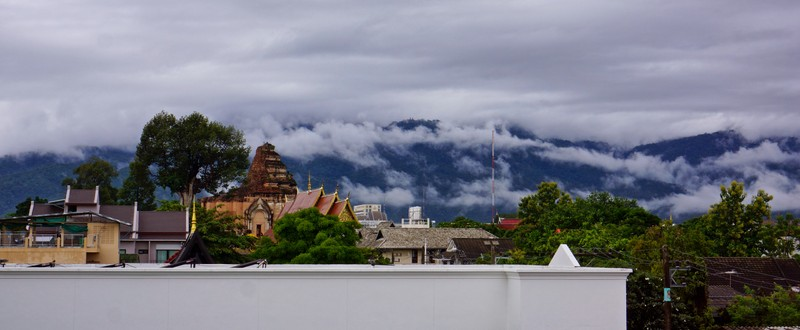 The View from our hotel balcony in Chiang Mai