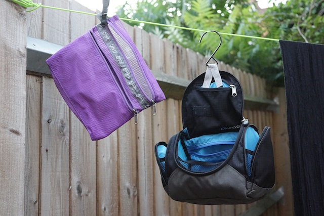 washbag and packing thing on the line