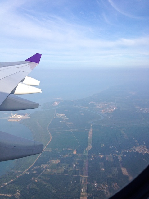 View at takeoff from our Thai Airways flight from KL to Bangkok